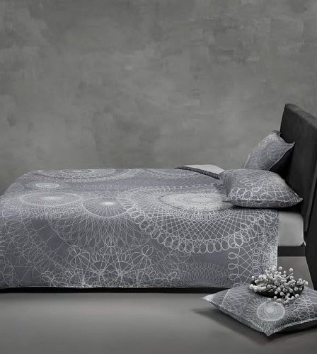 Постельное белье Mirabello LACE 01N Grey евро